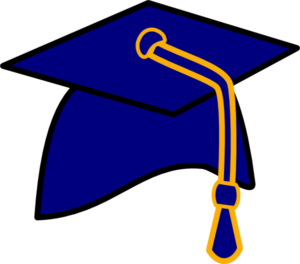 Graduate drawing class 2018. Cap and gown clipart