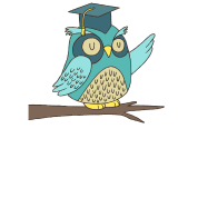 Graduate drawing owl. Cute with graduation hat