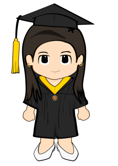 Graduate drawing charm. Littleanne grad by cheesyplinky