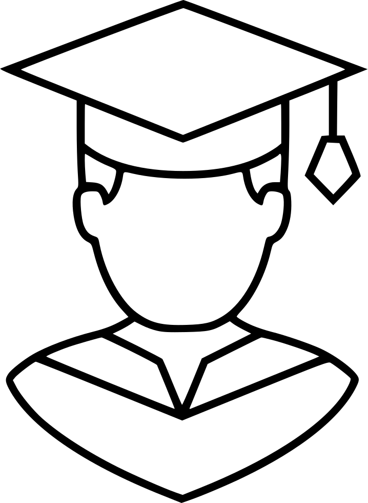 Graduation boy png. Svg icon free download