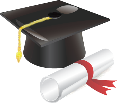 Graduation cap and diploma png. Picture of clipart clipartpen