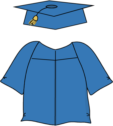 Graduation cap and gown png. Clipart new images