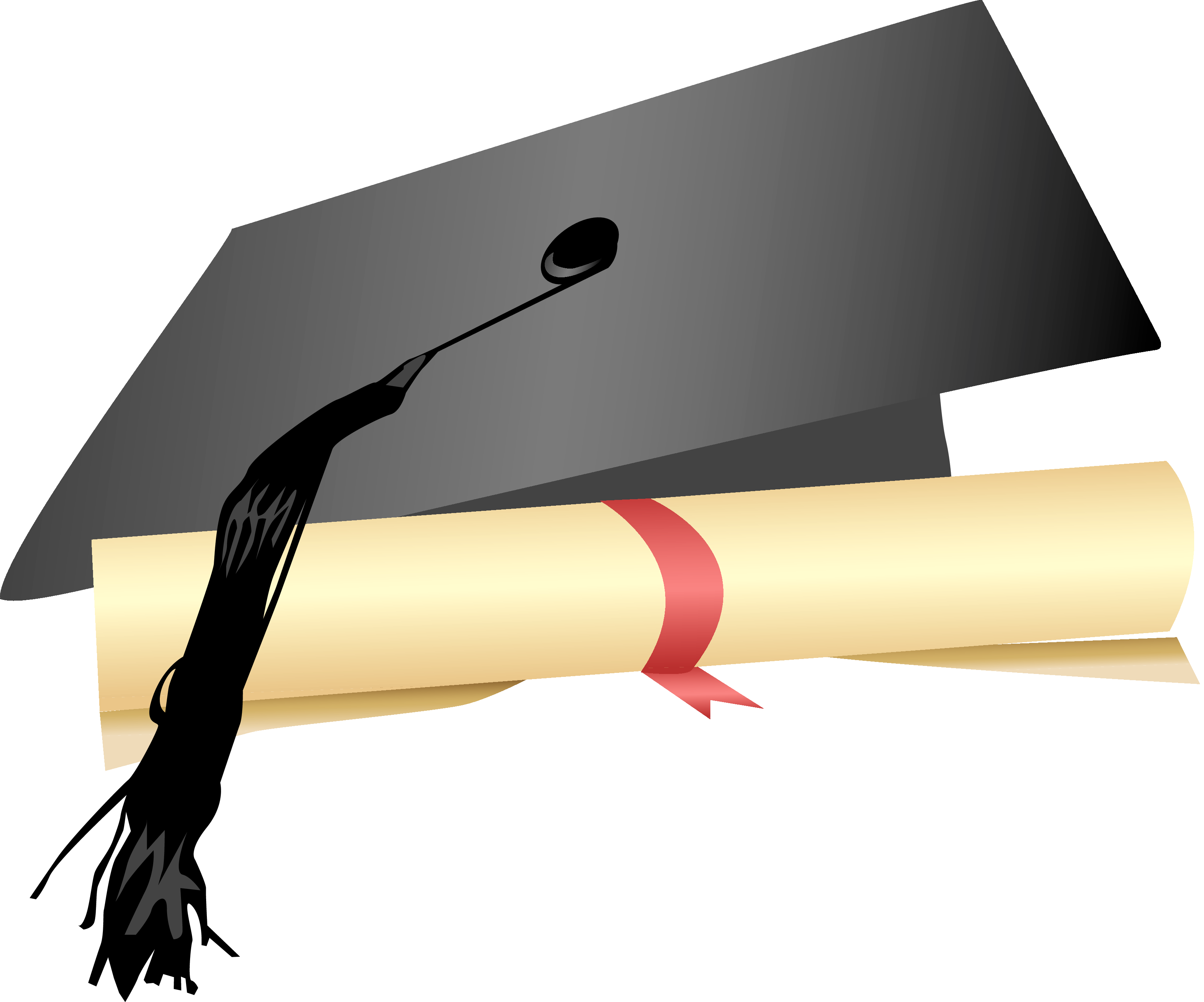 Graduation cap and gown png. Senior recognition