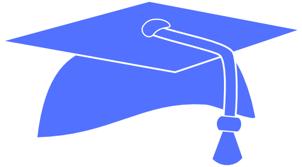 Graduation cap blue png. Pic free icons and