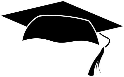 Birrete vector svg. Silhouette graduation cap at