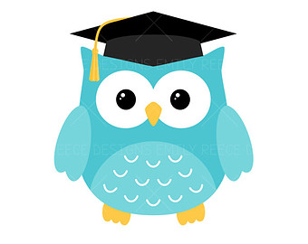 Graduation clipart owl. Pencil and in color