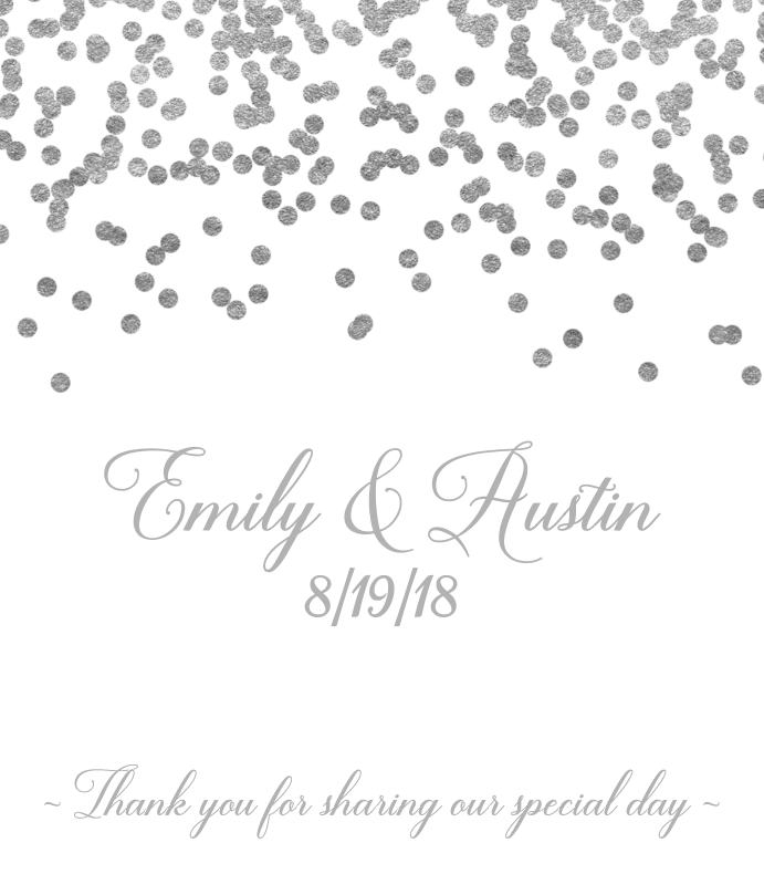 Oval silver labels png. Confetti wine label by