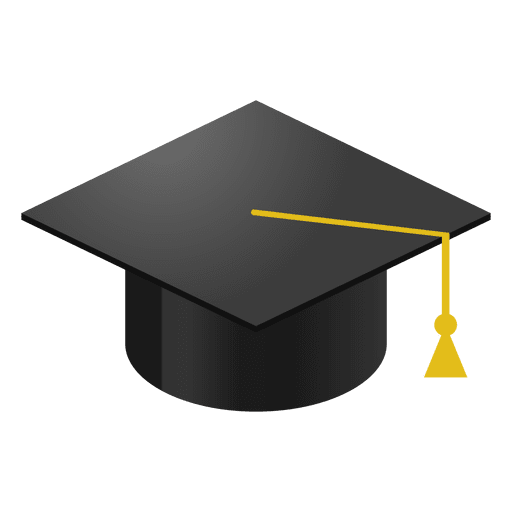 Graduation hat and diploma png. Cap cartoon transparent svg