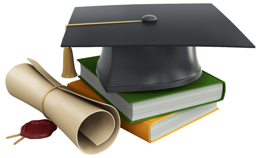 Graduation cap and diploma png. Books free images toppng