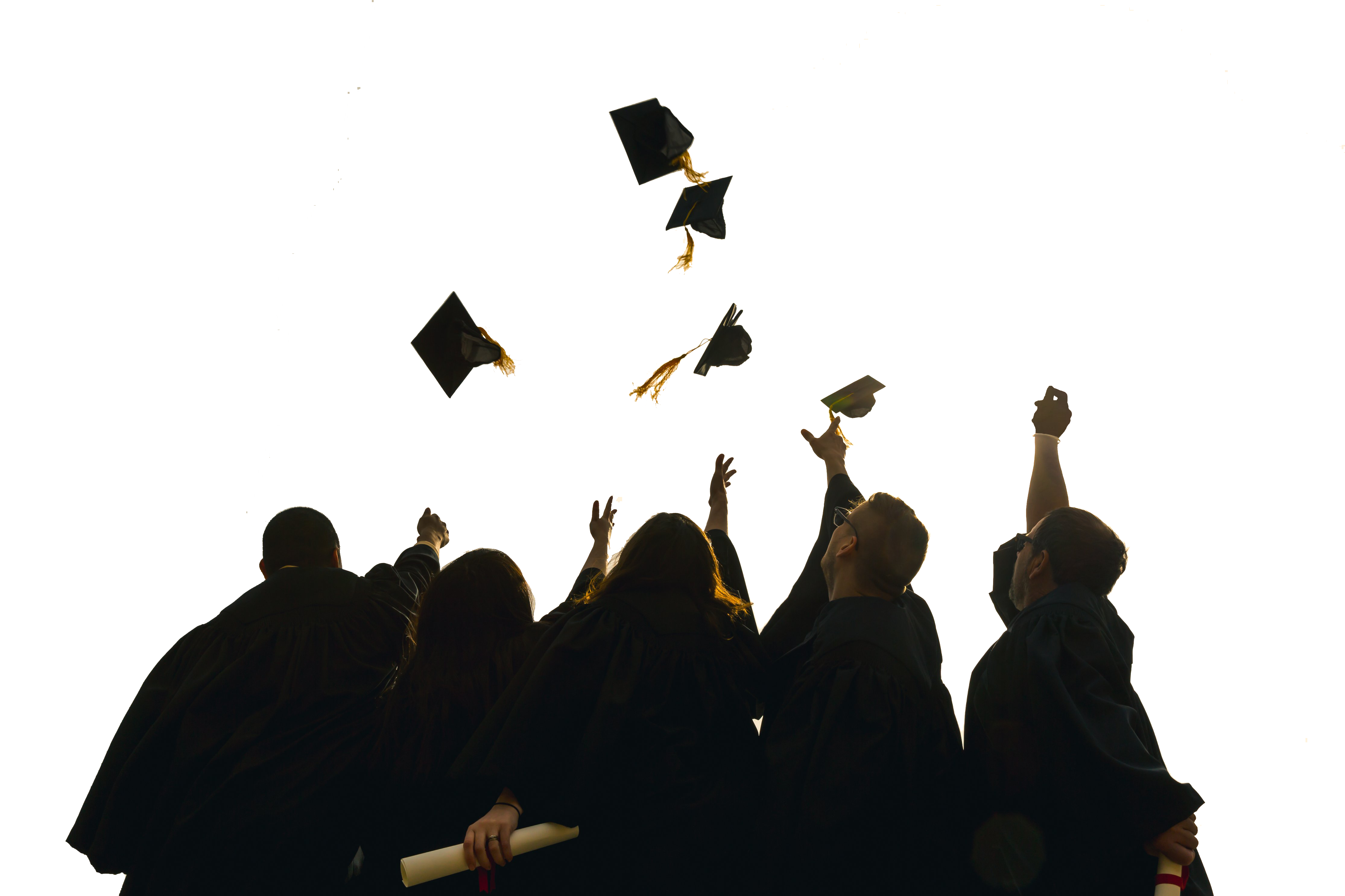 Graduation hats in the air png. About us rising stars
