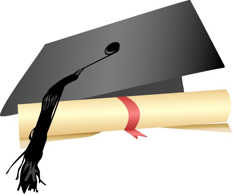 Graduation hats png. Cap and gown clipart