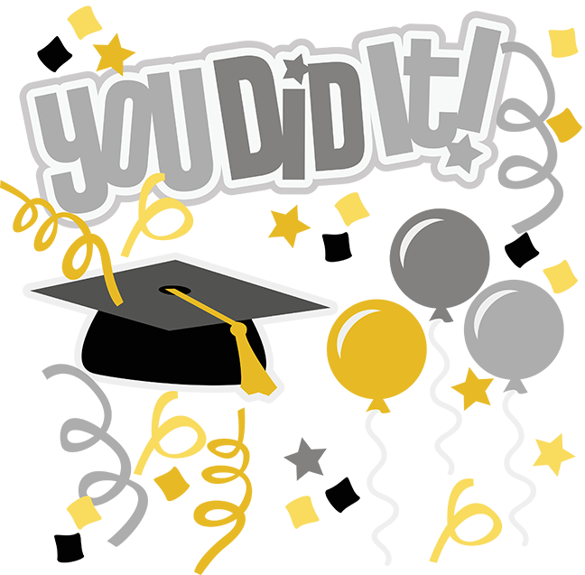 Graduate clipart proud graduate. You did it svg