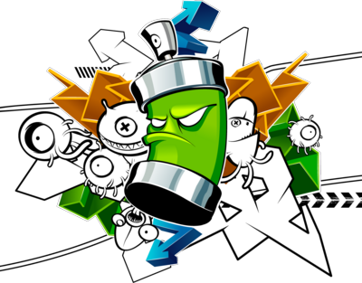 Graffiti clipart man. Free spray can download