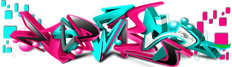 3d graffiti png