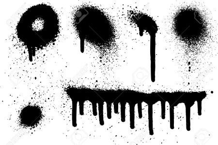 Graffiti clipart drip. Spray paint drips
