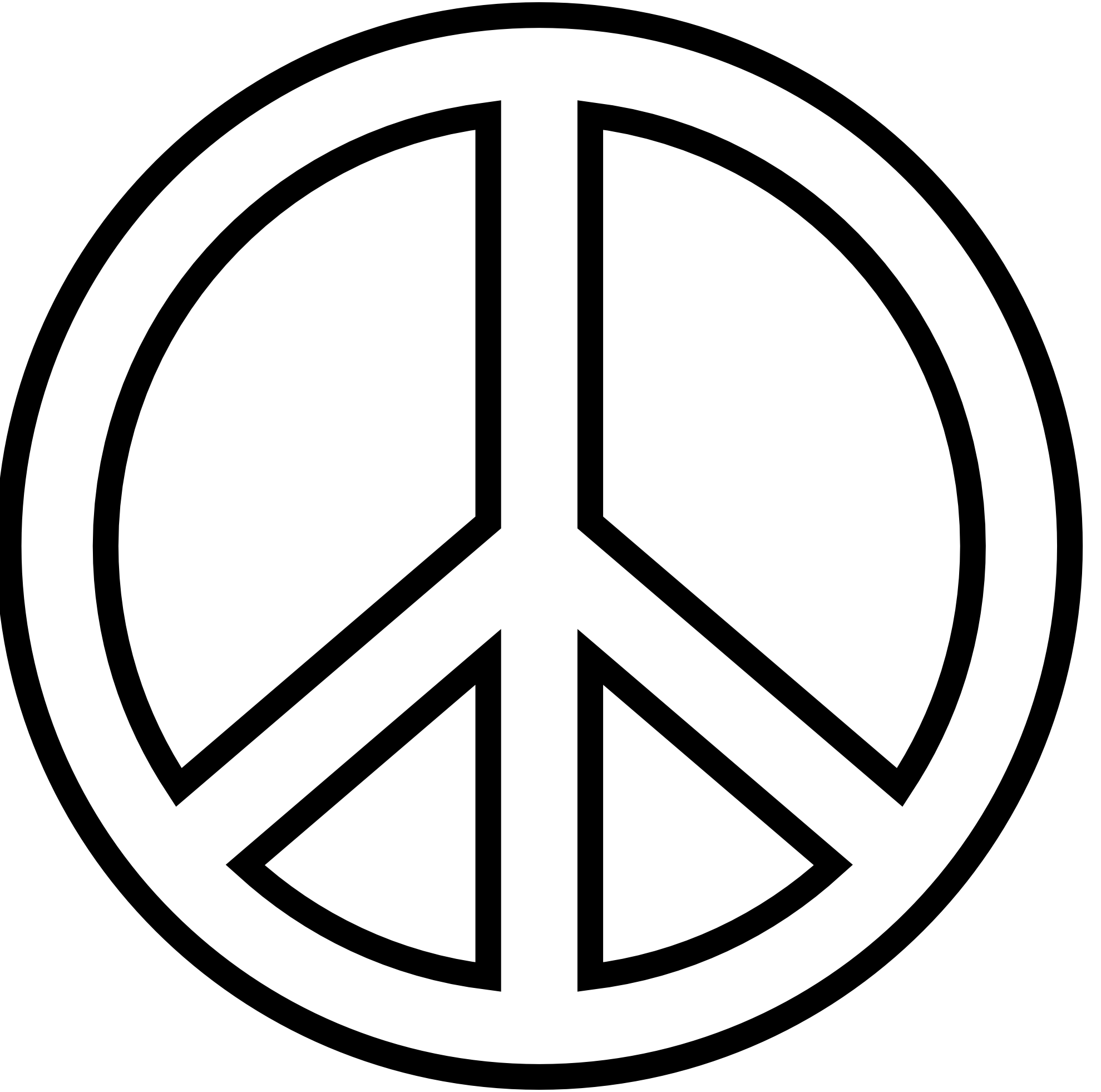 Saw clipart symbol. Free peace sign download