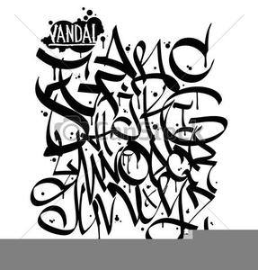 Graffiti clipart royalty free. Alphabet images at clker