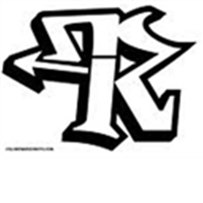 Graffiti letter png. Alphabets r black and
