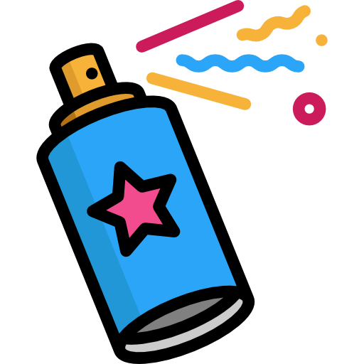 Painting insecticide aerosol birthday. Graffiti spray can png image free