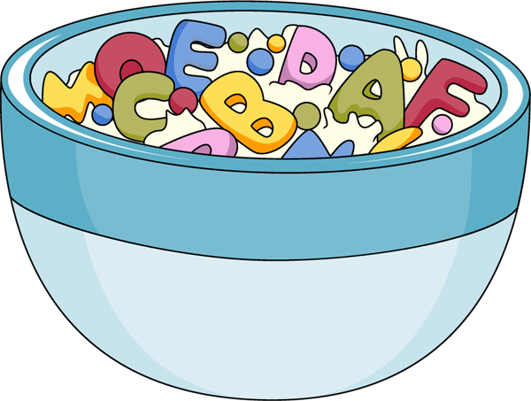 Cereal clipart. Cheerios in a bowl