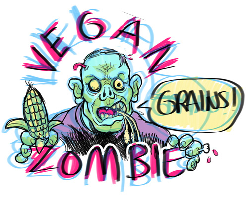 Grain clipart vegan. The zombie save world