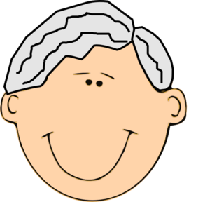 Grandfather clipart. Smiling clip art at