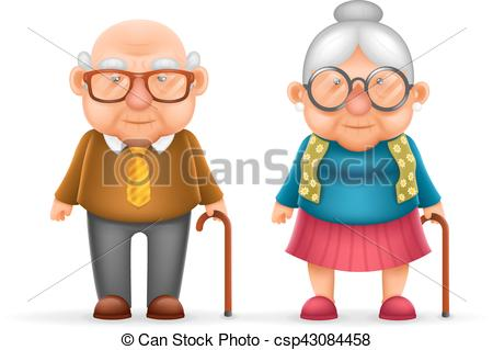 Grandfather clipart. Happy cute old man graphic transparent download