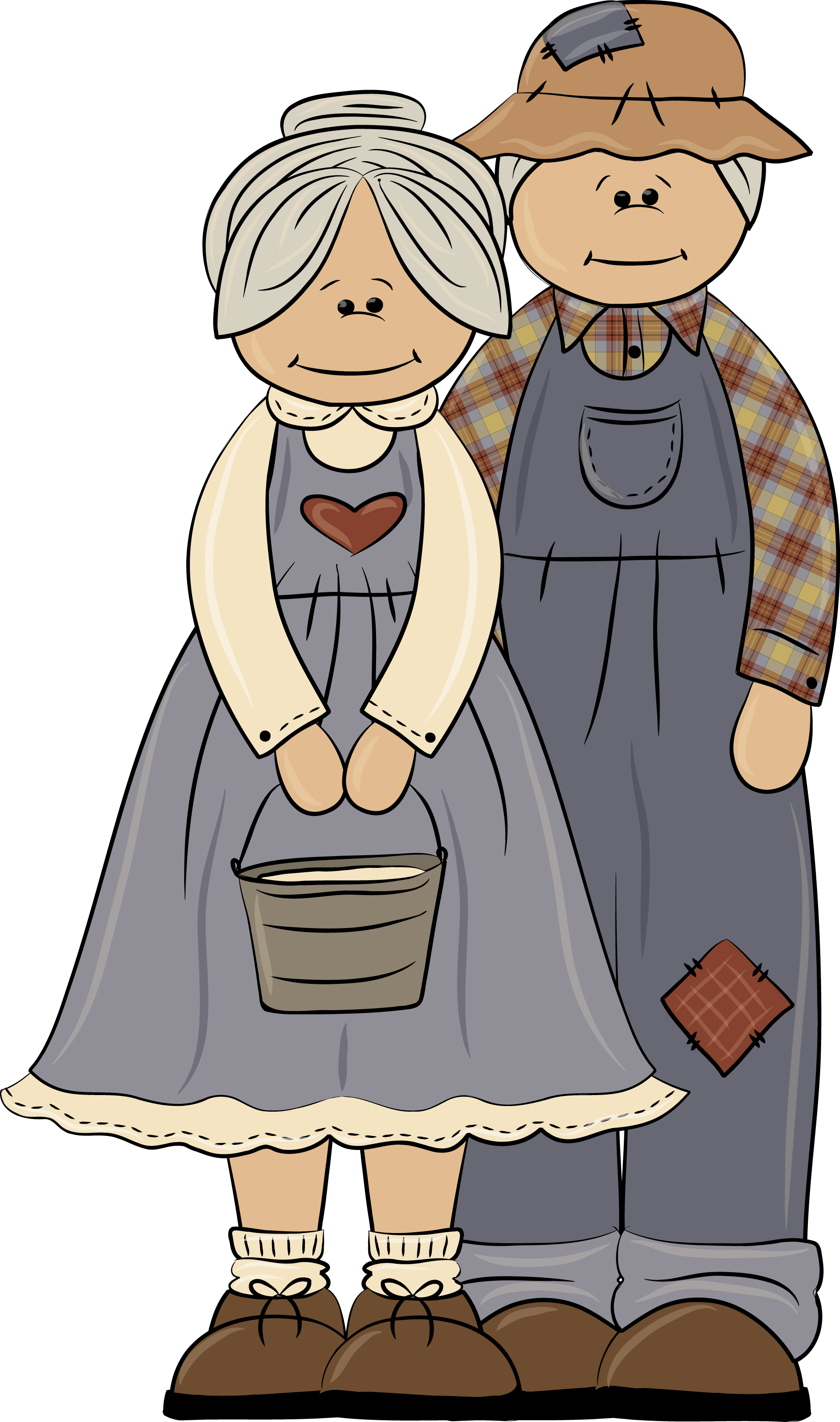 Grandparent clipart lovely. Grandparents with their grandchildren