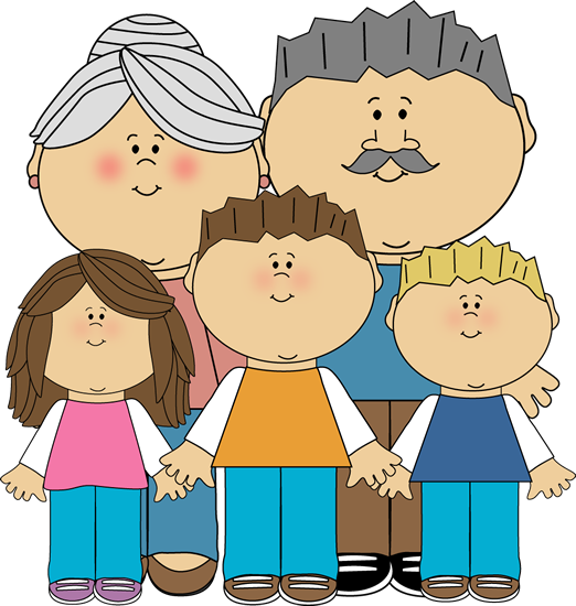 Png grandparents with grandchildren. Grandfather clipart svg library stock