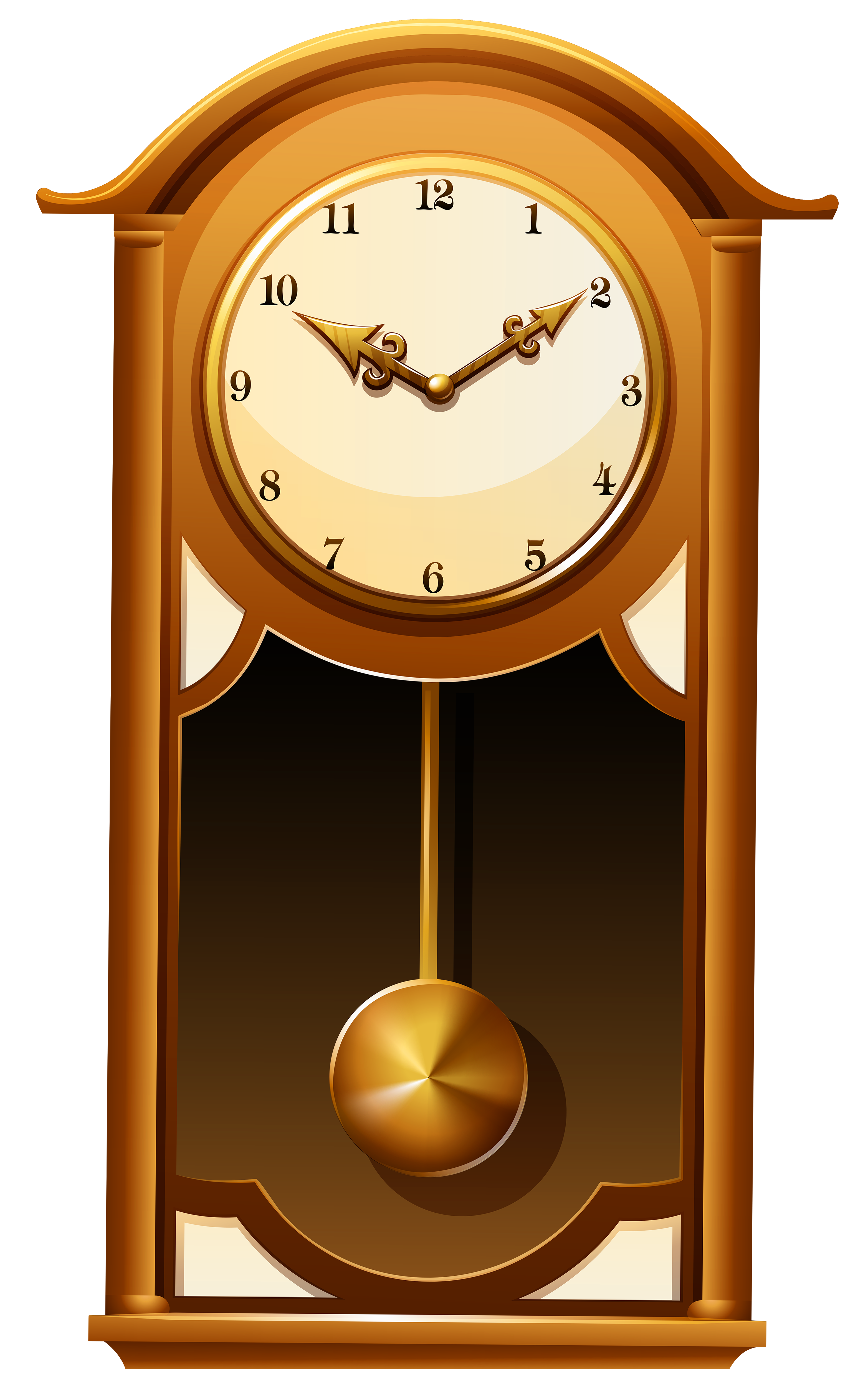 Grandfather clipart transparent background. Antique wall clock png