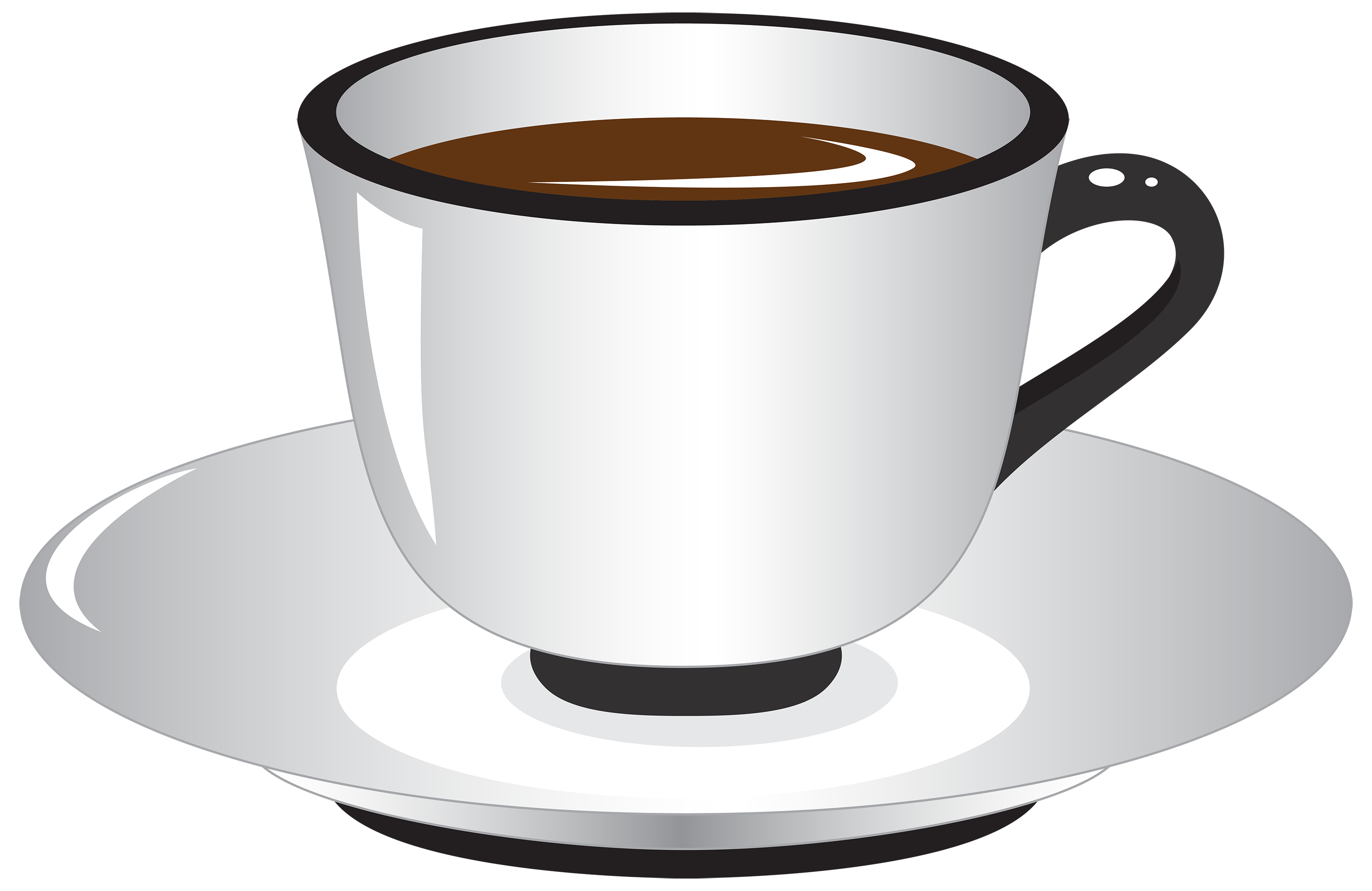 Coffee clipart png. White and black cup