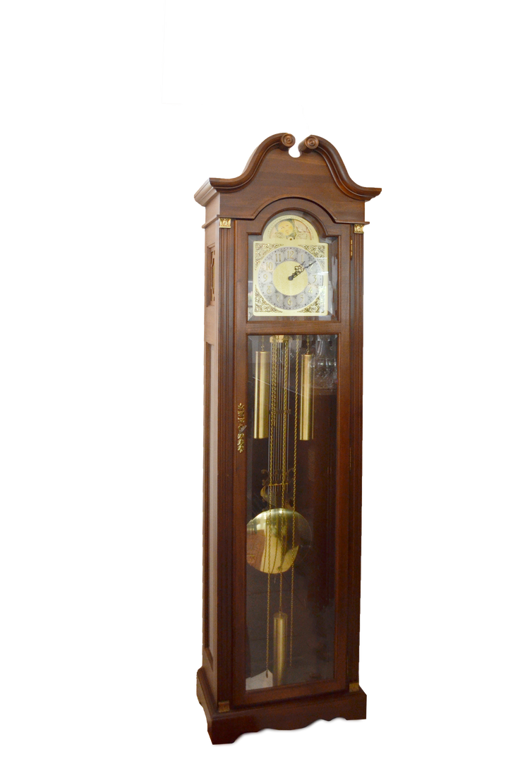 Grandfather clock png. Side view stock photo
