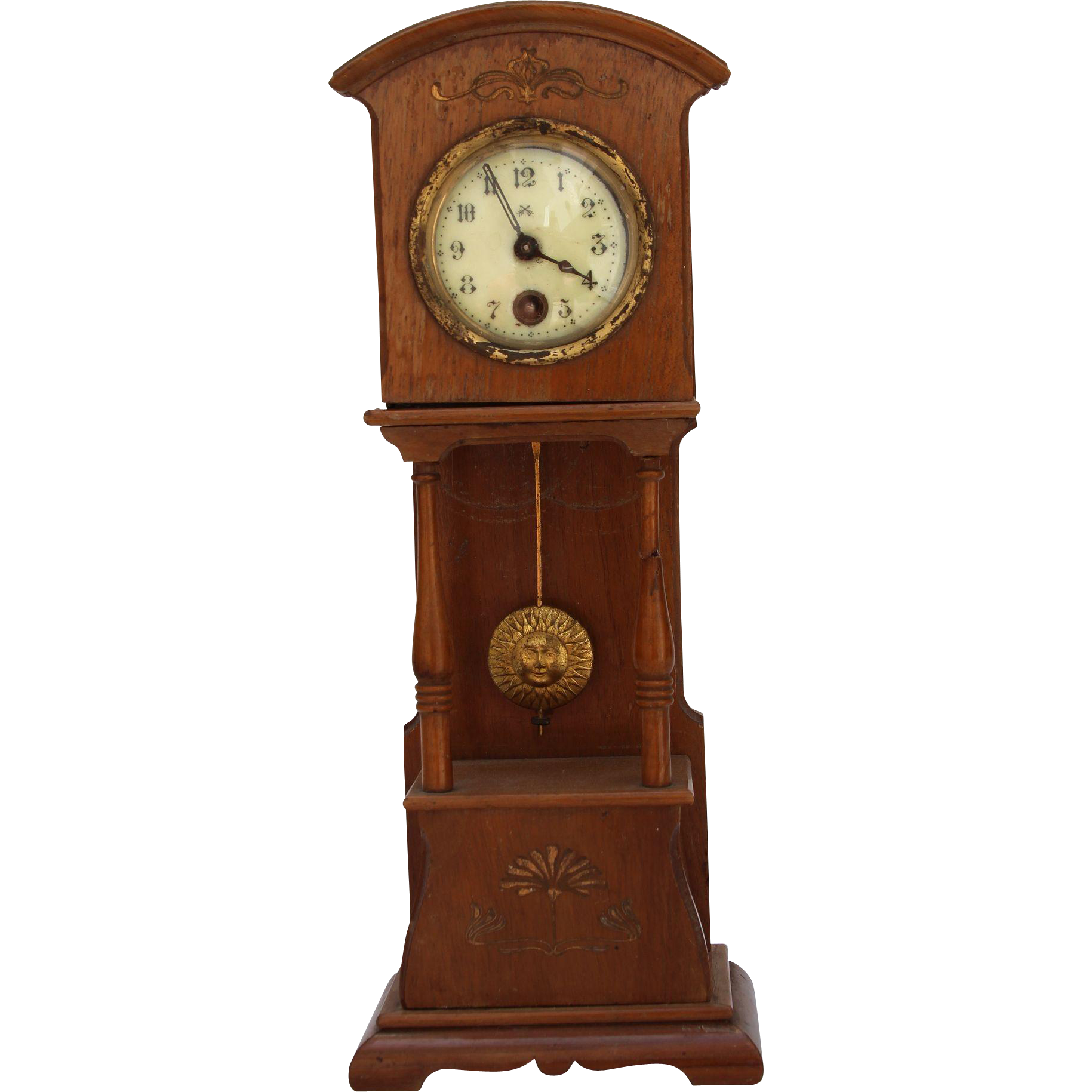 Grandfather clock png. Art nouveau dollhouse early
