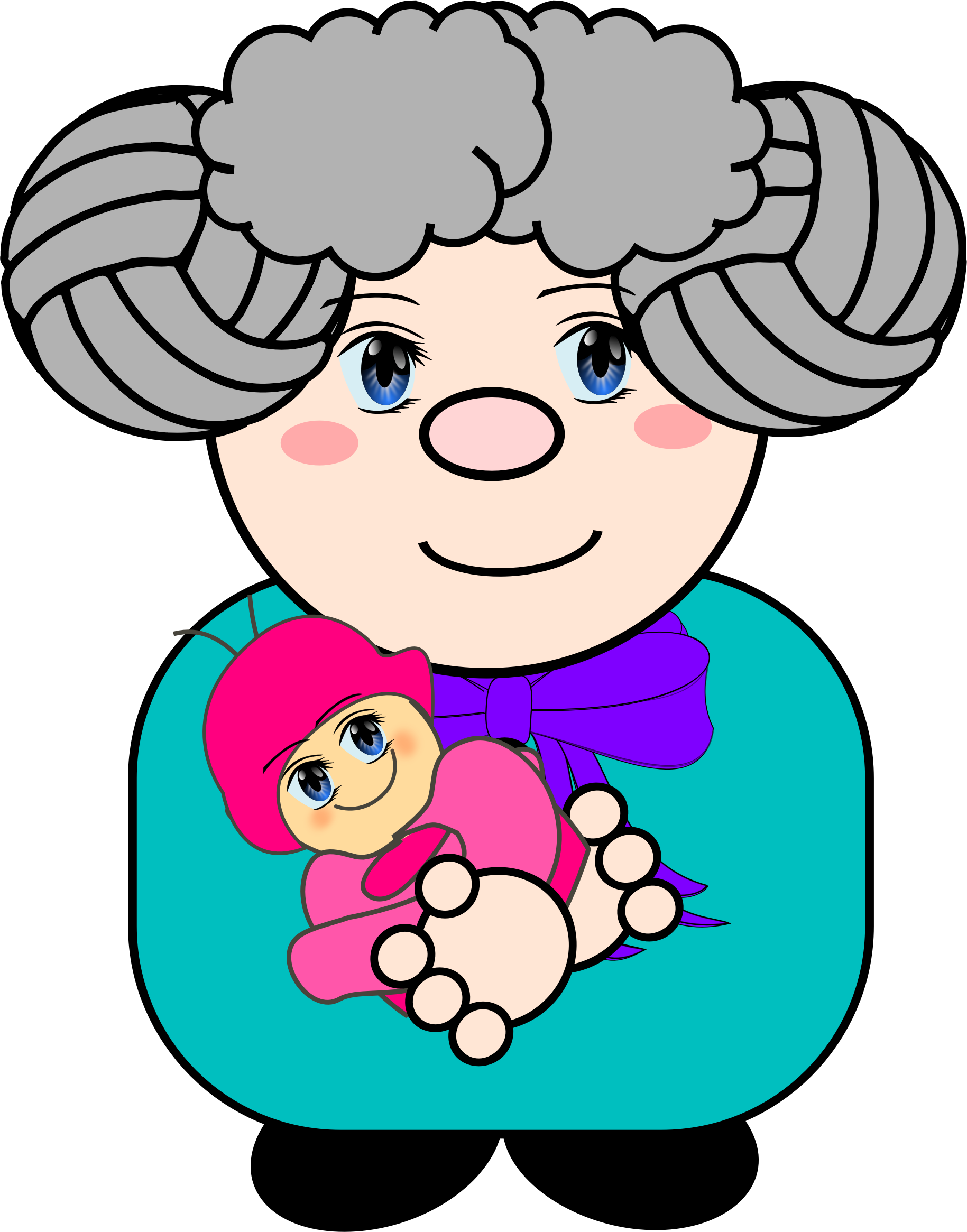 Grandma clipart storytelling. With baby big image