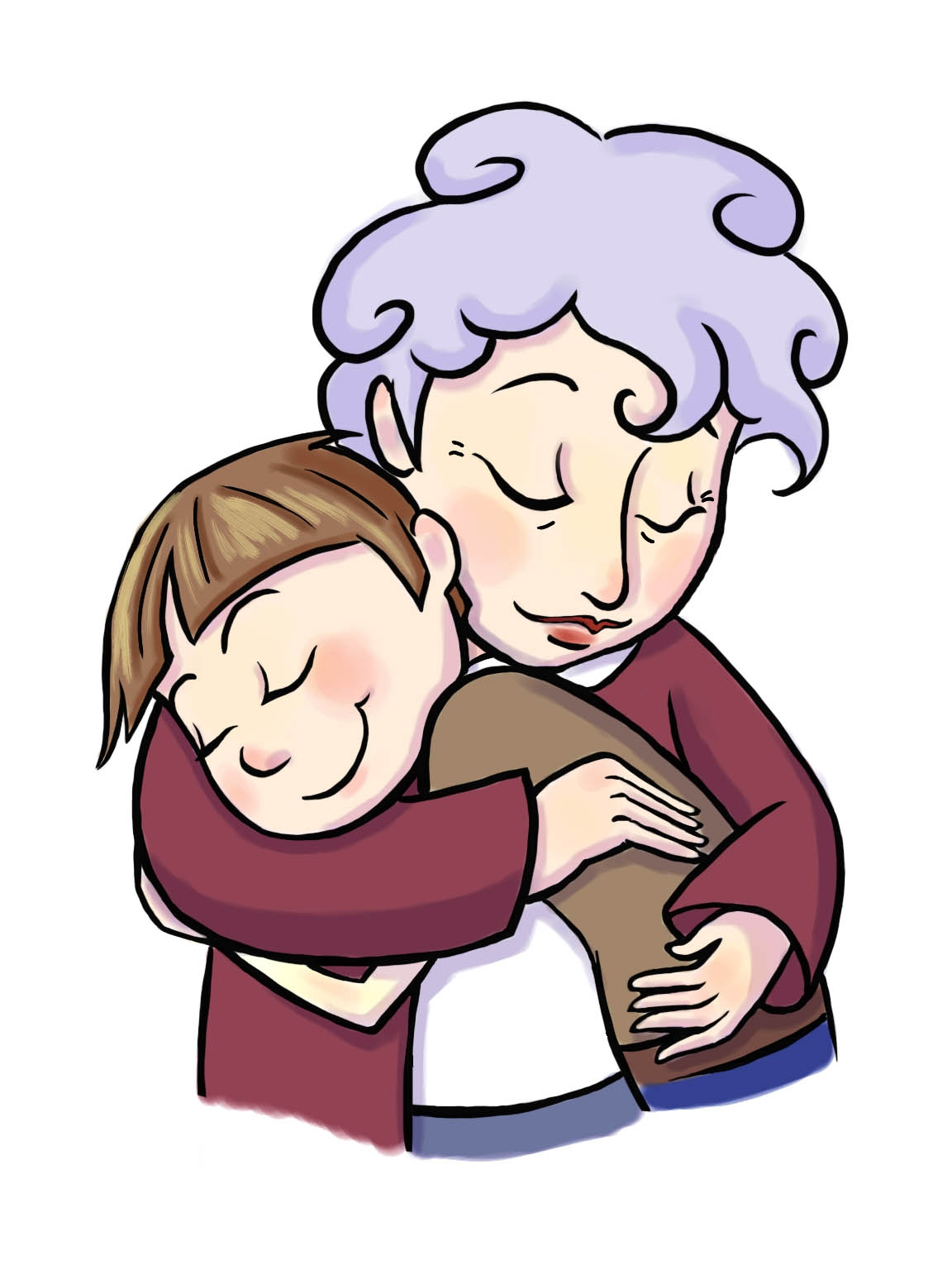Grandparent clipart lovely. Grandmother f grandma of