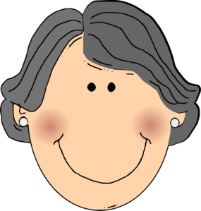 grandmother clipart head