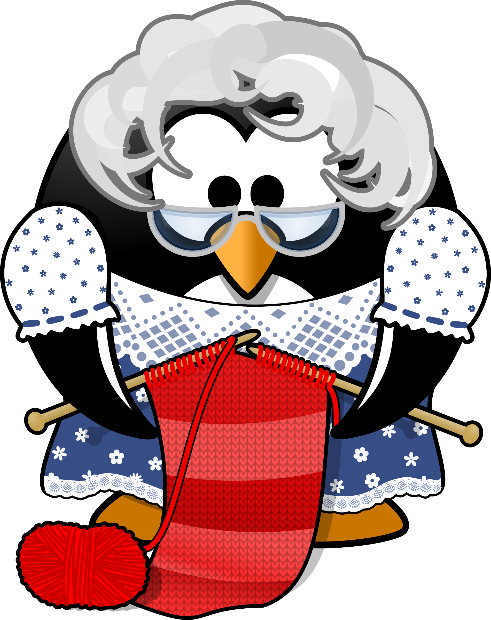 Grandma clipart storytelling. Penguin icons png free