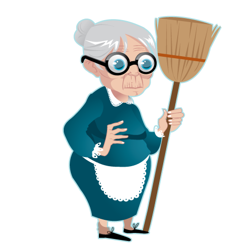 Transparent background mart. Grandma png clip black and white