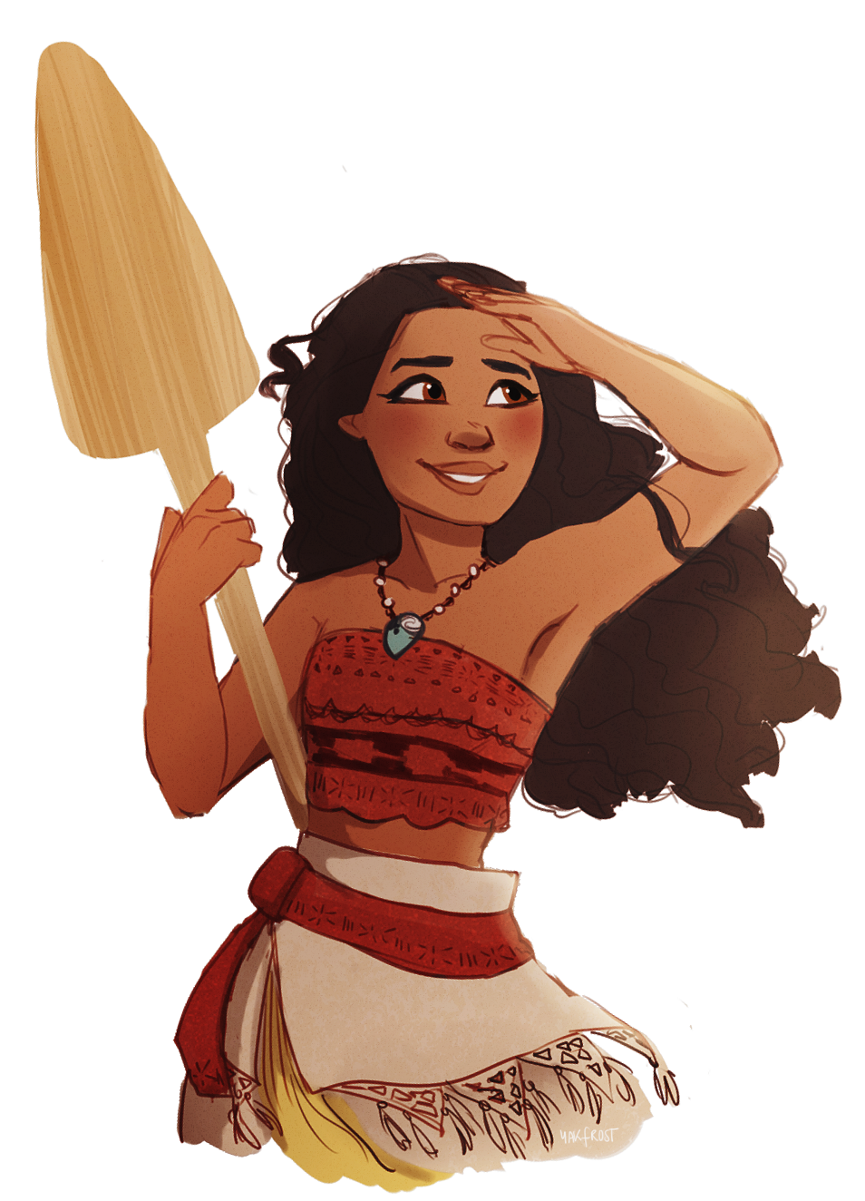 drawing moana shading