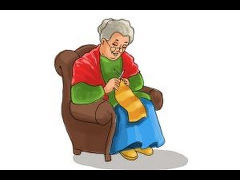Grandmother clipart easy drawing. How to draw a