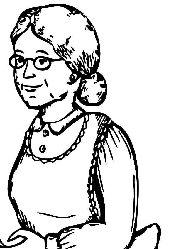 Grandmother clipart easy drawing. At getdrawings com free