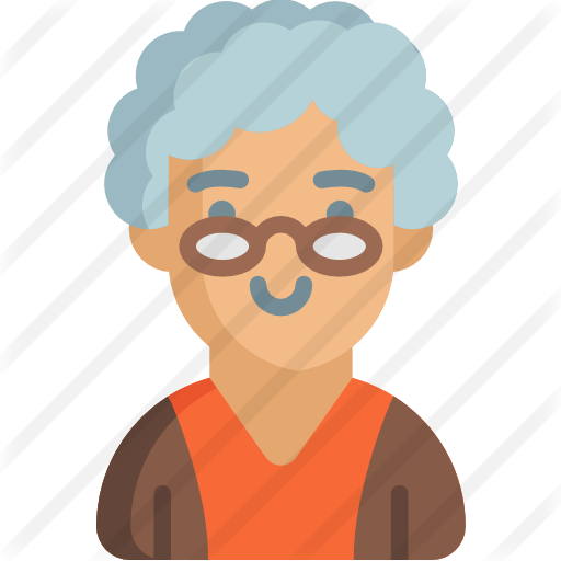 Grandmother clipart pensioner. Free social icons icon