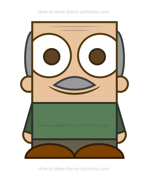 Grandpa clipart. How to draw a