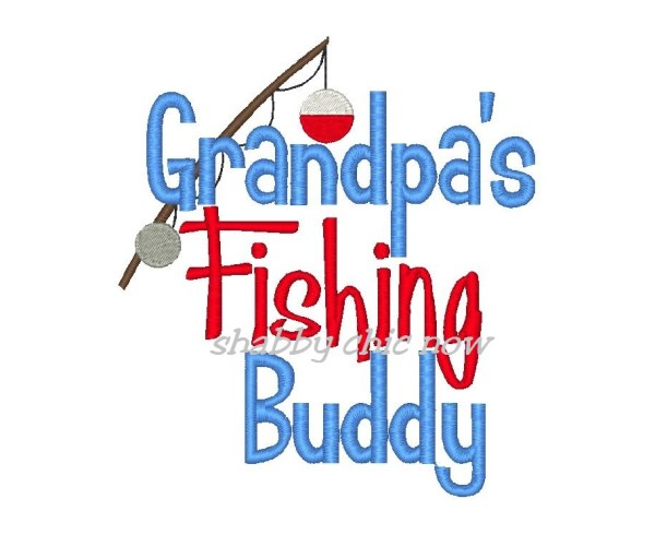 Embroidery design grandpas buddy. Grandpa clipart grandpa fishing vector royalty free