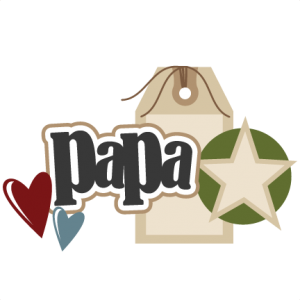 Papa scrapbook title cut. Grandpa svg graphic freeuse stock