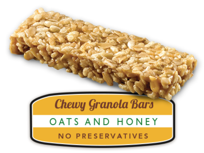 Granola bar png. Chewy bars oats honey