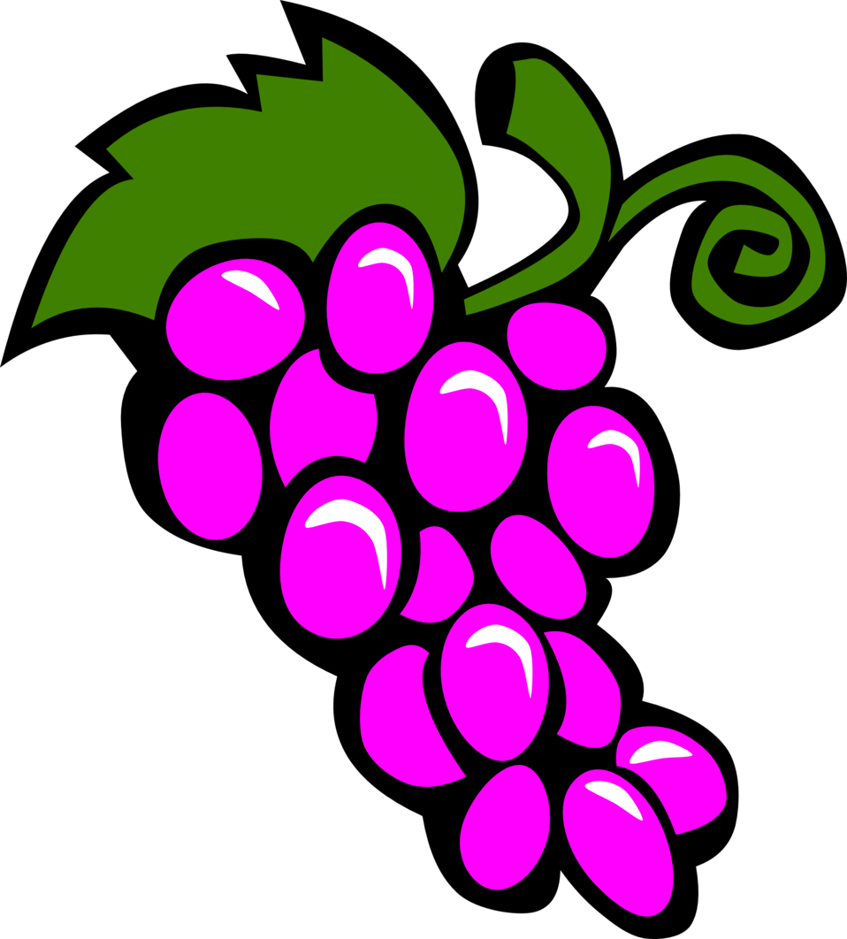Grape clipart illustration. Public domain clip art