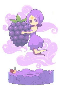 Grapes clipart chibi. Best girls images