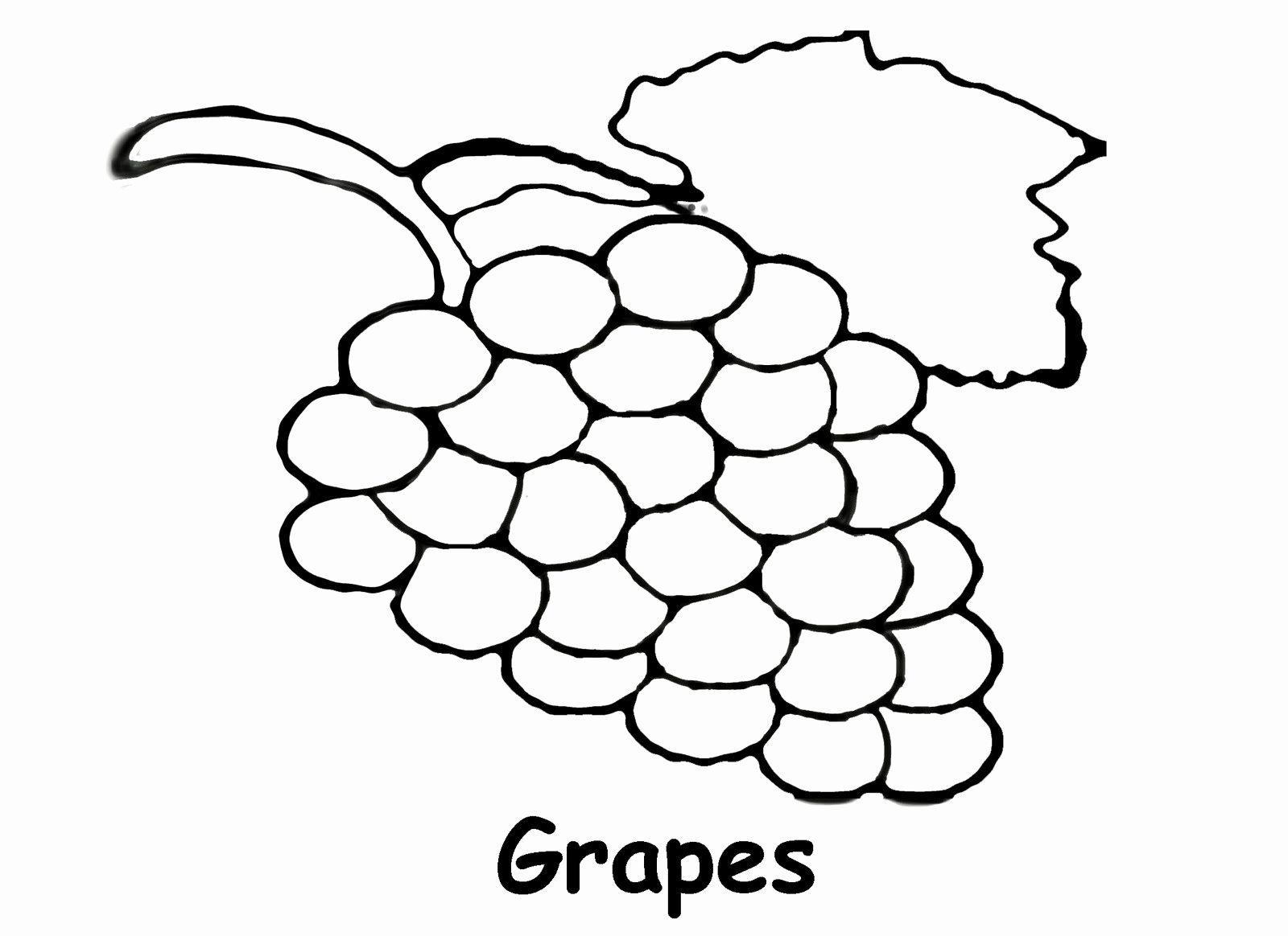 Grapes clipart coloring sheet. Page beautiful pages printable