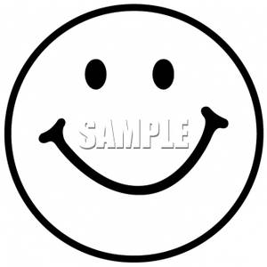 Smiley clipart outline. Of a face  vector library download